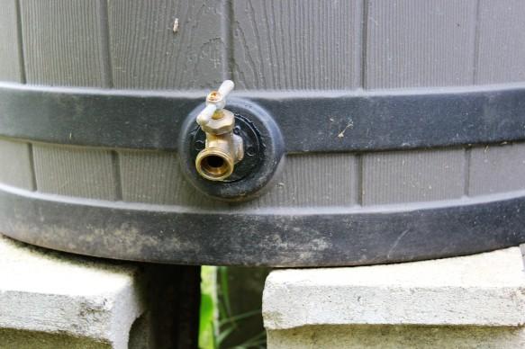 Baril collecteur d'eau de pluie